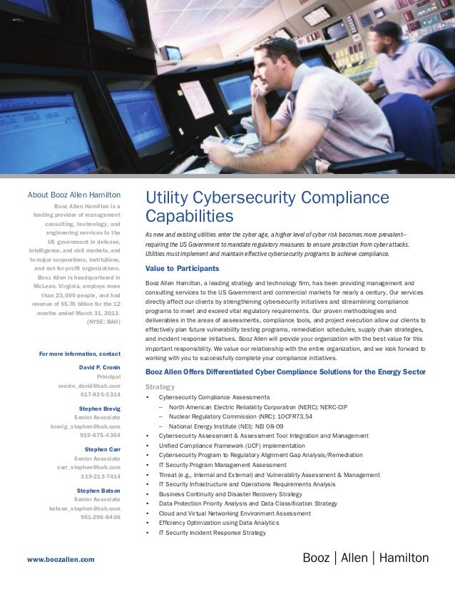Utility Cybersecurity Compliance Capabilities