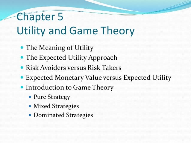 Utility and game theory for schoolbook