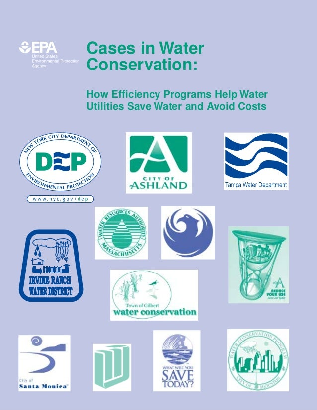 Cases in Water Conservation: How Efficiency Programs Help Water Utilities Save Water and Avoid Costs