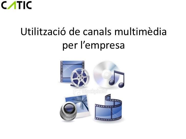 Utilització de canals multimèdia          per l'empresa
