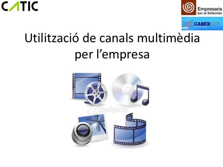 Utilització de canals multimèdia per l'empresa (Solsonès)