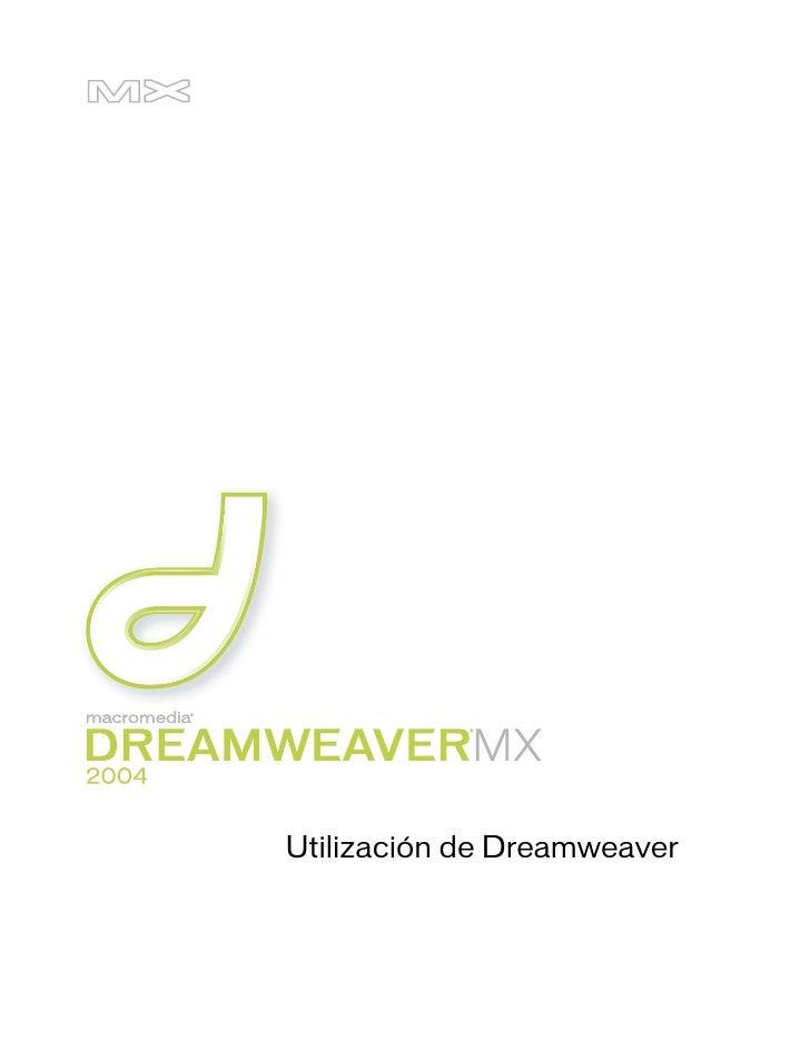 Utilizacion De Dreamweaver