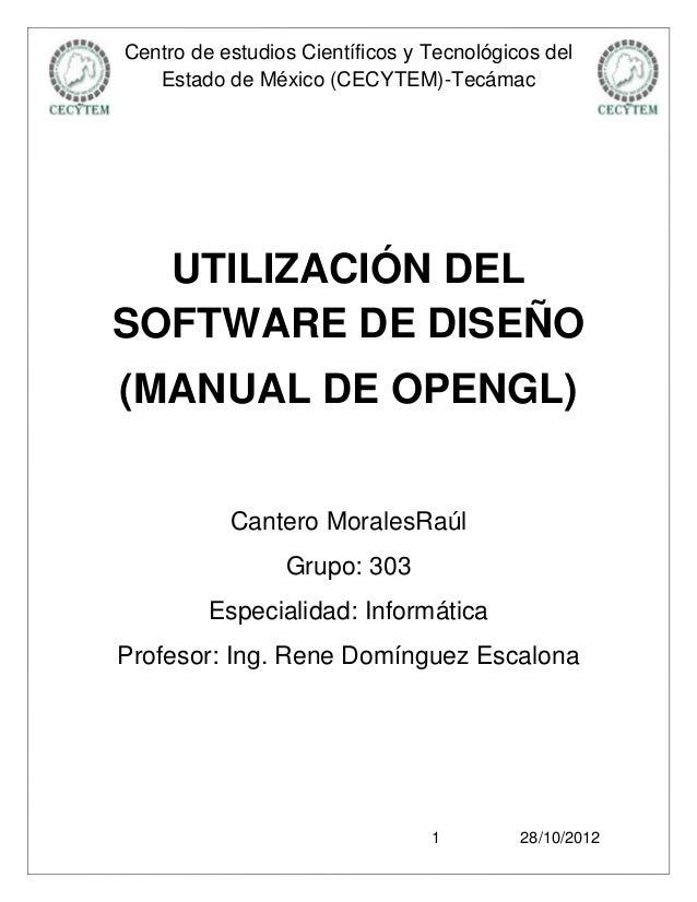 Centro de estudios Científicos y Tecnológicos del   Estado de México (CECYTEM)-Tecámac  UTILIZACIÓN DELSOFTWARE DE DISEÑO(...