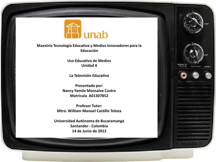 Maestría Tecnología Educativa y Medios Innovadores para la                        Educación                Uso Educativo d...