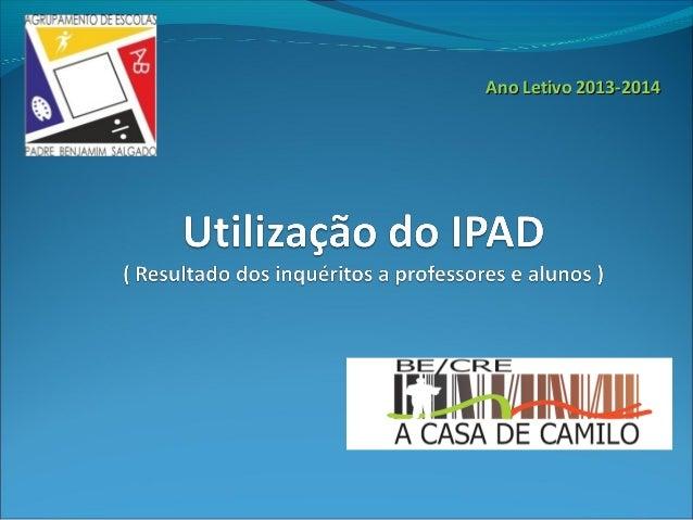 Ano Letivo 2013-2014Ano Letivo 2013-2014
