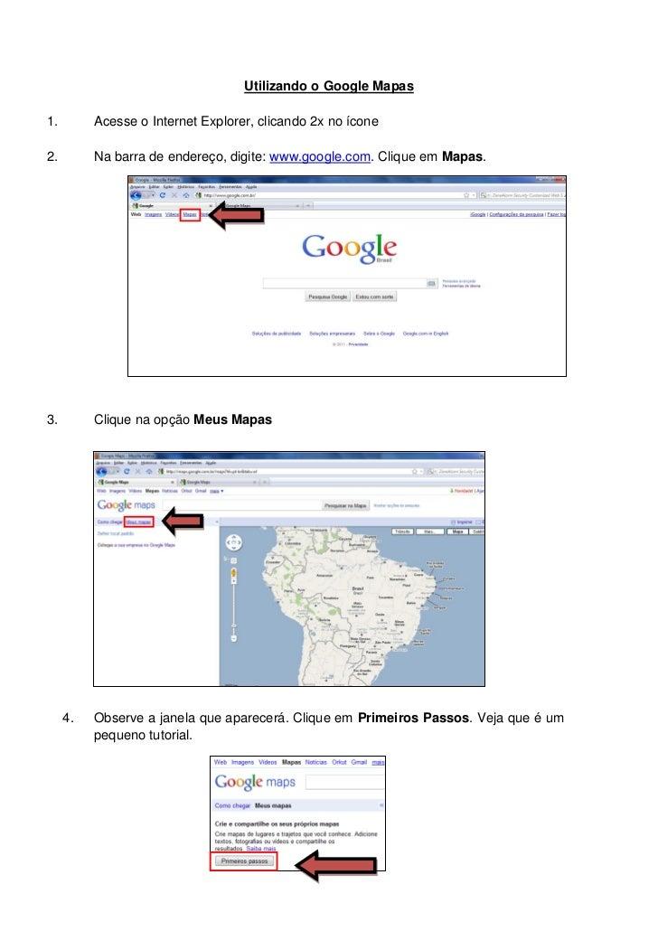 Utilizando o google mapas