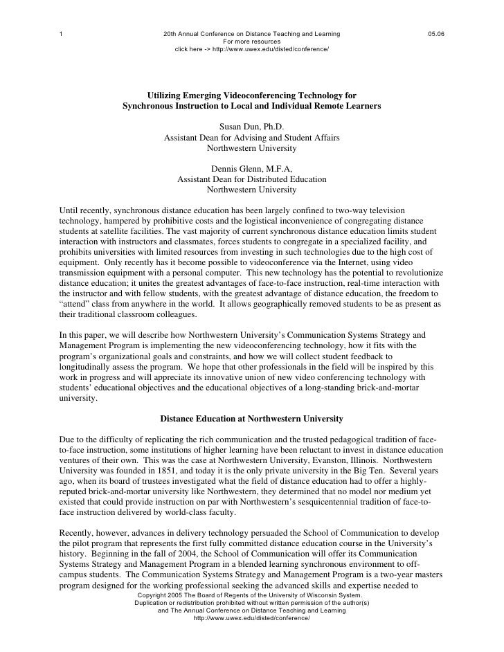 1                              20th Annual Conference on Distance Teaching and Learning                     05.06         ...