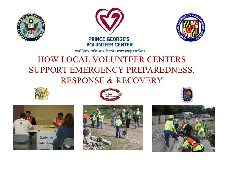 HOW LOCAL VOLUNTEER CENTERS SUPPORT EMERGENCY PREPAREDNESS, RESPONSE & RECOVERY