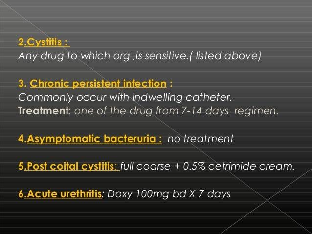 Urethritis treatment with cipro