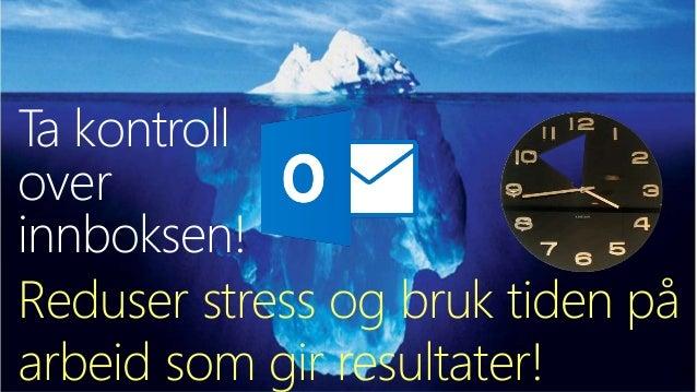 Smart bruk av Outlook for å nå dine personlige mål - smaksprøve