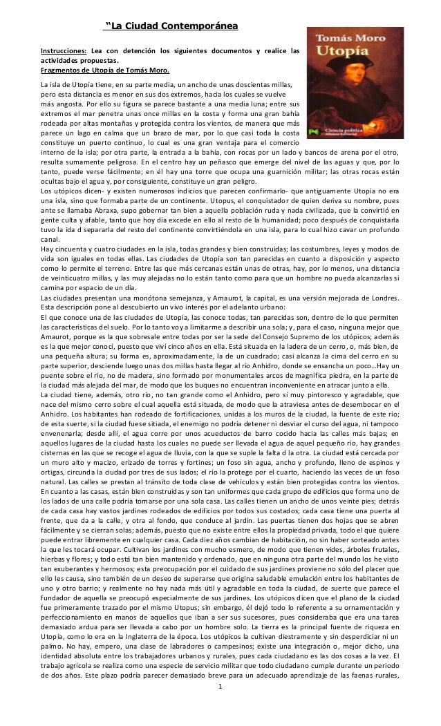 """""""La Ciudad Contemporánea Instrucciones: Lea con detención los siguientes documentos y realice las actividades propuestas. ..."""