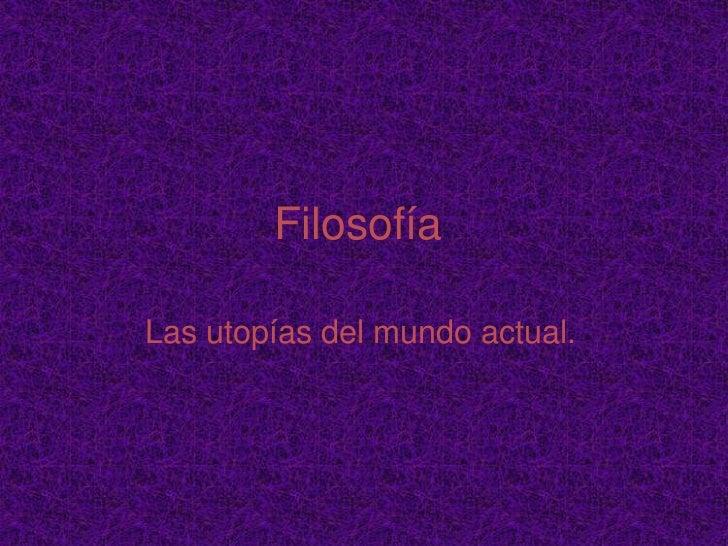 Utopia filosofia