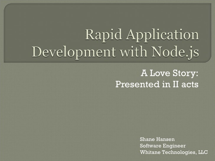 Rapid Application with Node.js