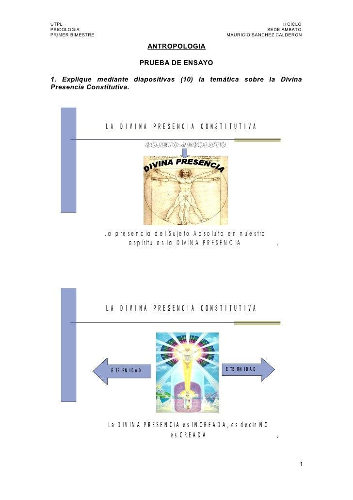 Utpl Antropologia Primer Bimestre