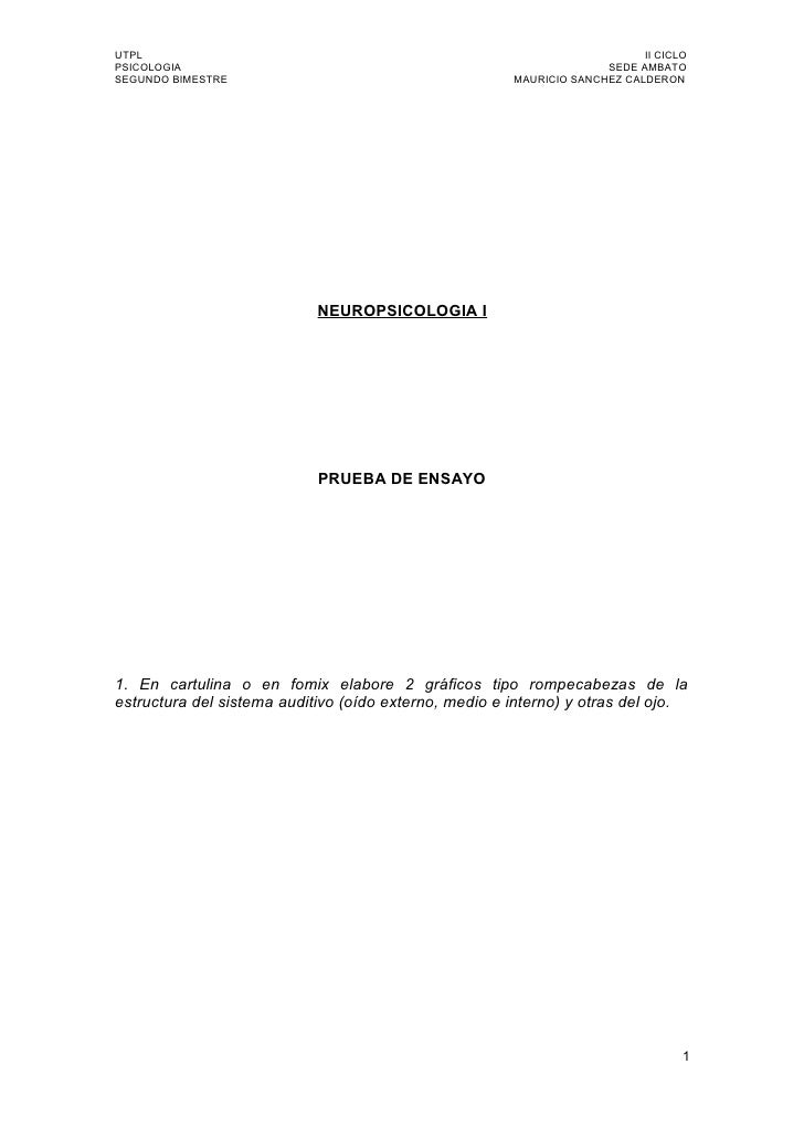 UTPL                                                                       II CICLO PSICOLOGIA                            ...