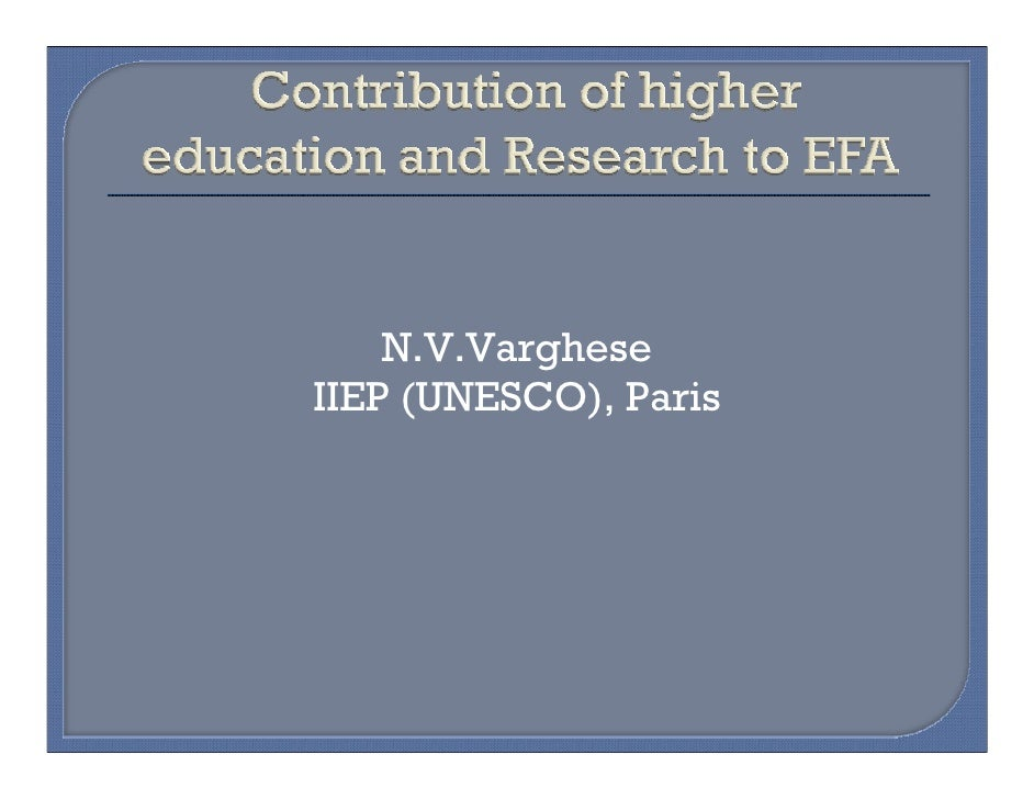 N.V.VargheseIIEP (UNESCO), Paris