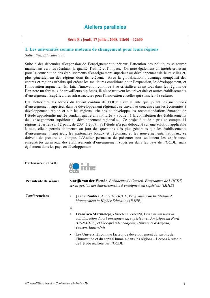 Utrecht  sb- parallel workshops list french-w