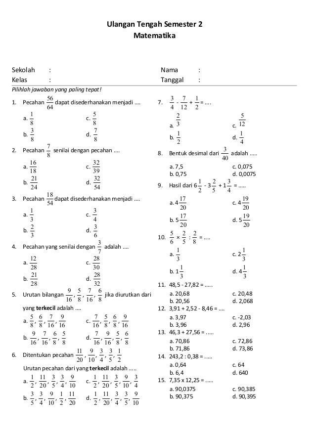 Uts 2 Matematika