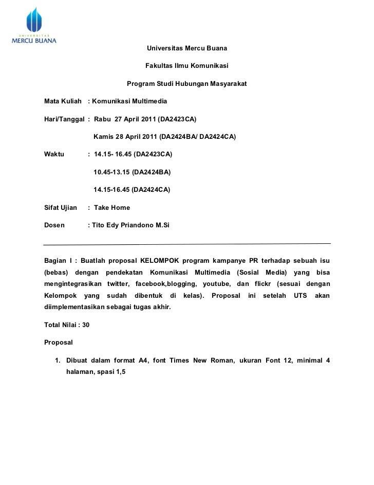 Universitas Mercu Buana                                   Fakultas Ilmu Komunikasi                              Program St...