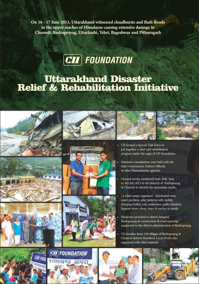 Uttarakhand Disaster Relief Rehabilitation Update 2014
