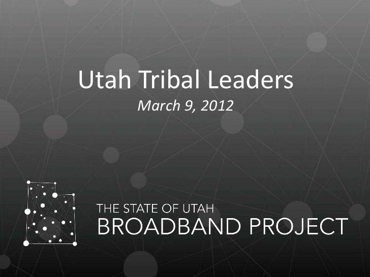 Utah Tribal Leaders Meeting
