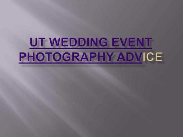 Looking for Utah Wedding Photographers?