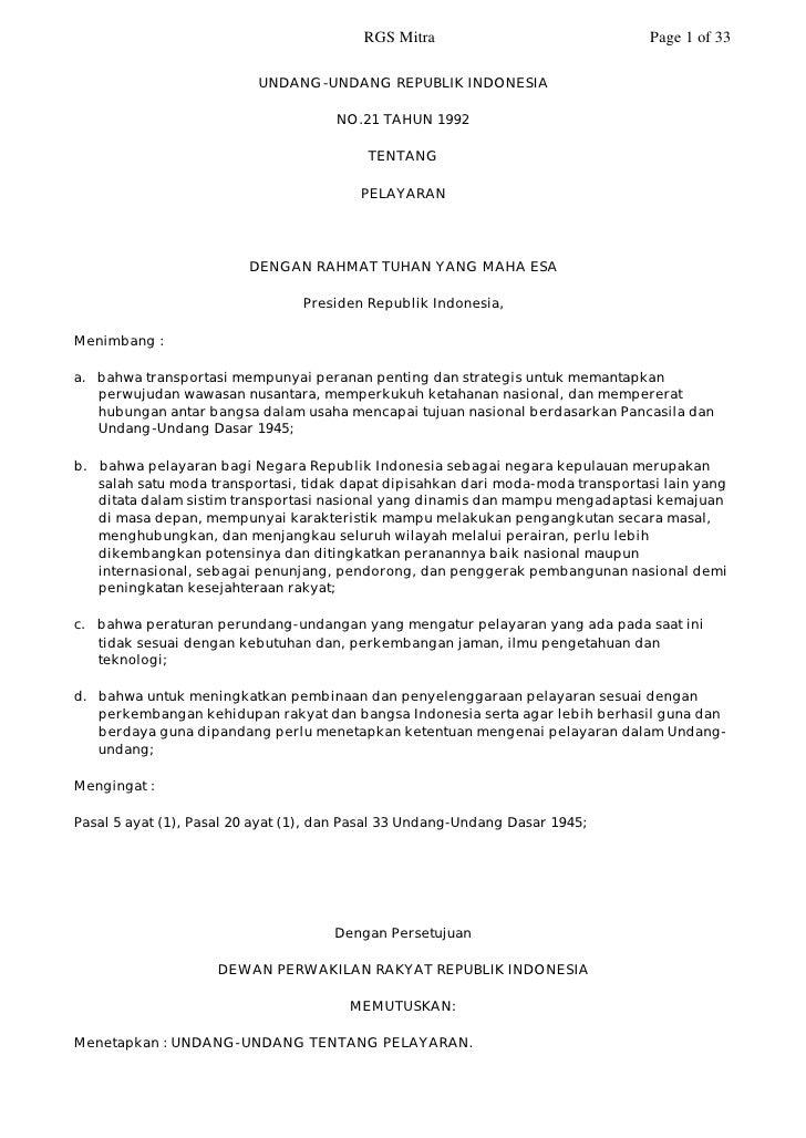 RGS Mitra                               Page 1 of 33                            UNDANG-UNDANG REPUBLIK INDONESIA          ...