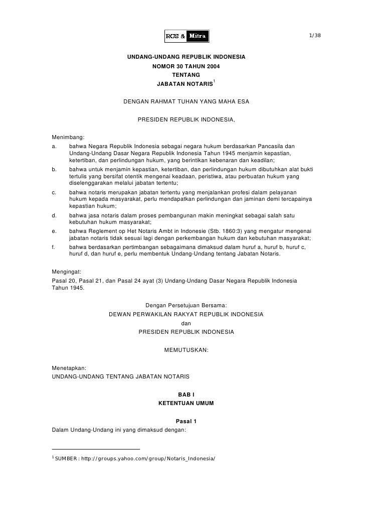 1/38                                UNDANG-UNDANG REPUBLIK INDONESIA                                       NOMOR 30 TAHUN ...