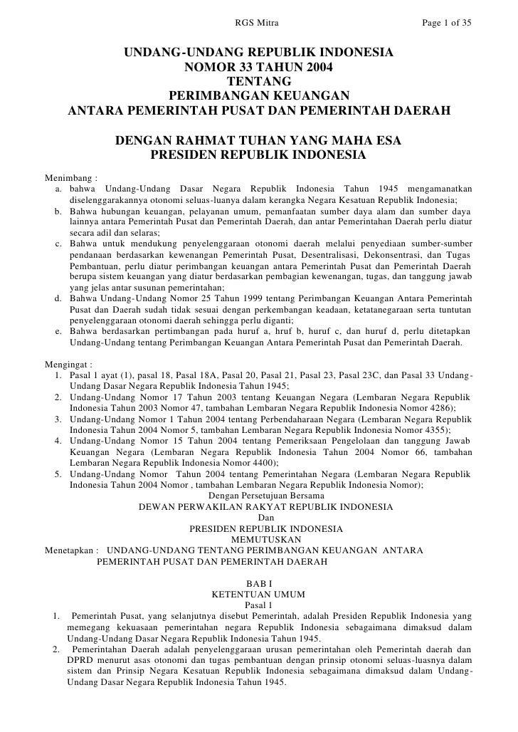 RGS Mitra                                    Page 1 of 35              UNDANG-UNDANG REPUBLIK INDONESIA                   ...