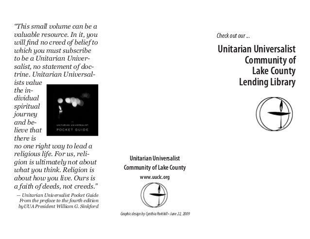 UUCLC lending library brochure