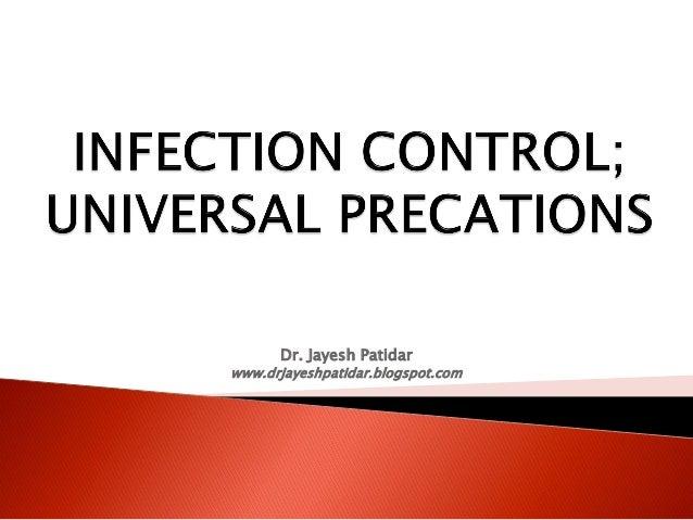 Infection control.pdf; universal precaution