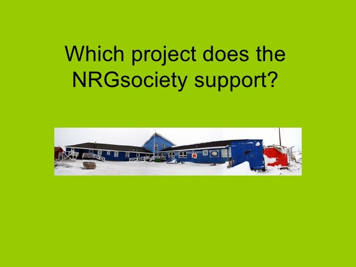 Which project does the NRGsociety support?