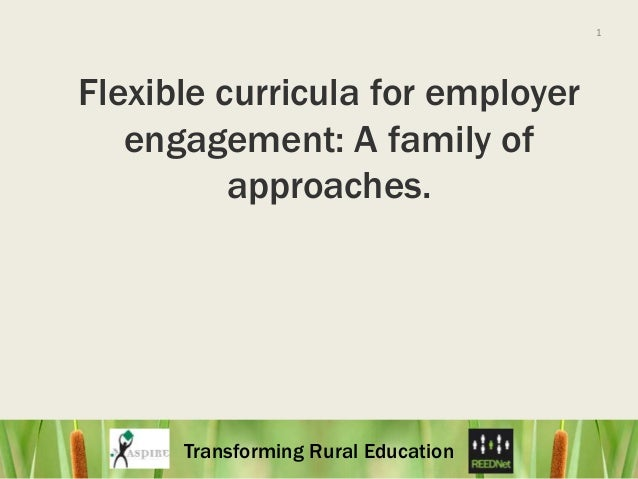 1<br />Flexible curricula for employer engagement: A family of approaches. <br />
