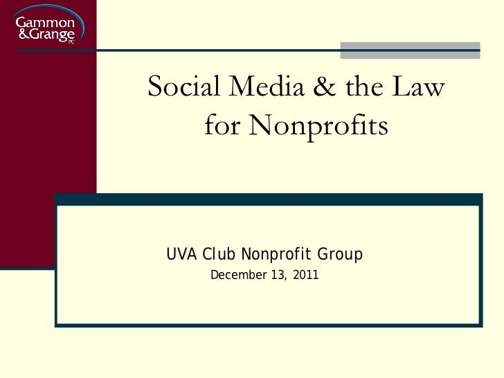 Social Media & the Law for Nonprofits