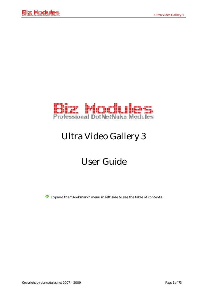 Ultra Video Gallery 3                               Ultra Video Gallery 3                                            User ...