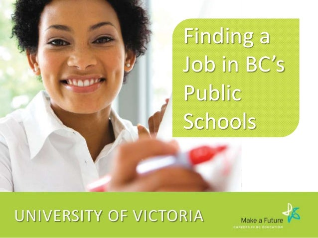 Finding a Job in Public Education Workshop for University of Victoria Teacher Education Students