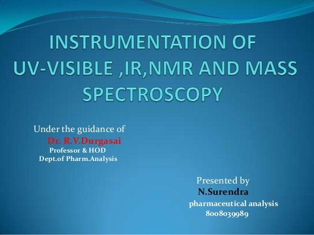 Under the guidance of Dr. R.V.Durgasai Professor & HOD Dept.of Pharm.Analysis  Presented by N.Surendra pharmaceutical anal...