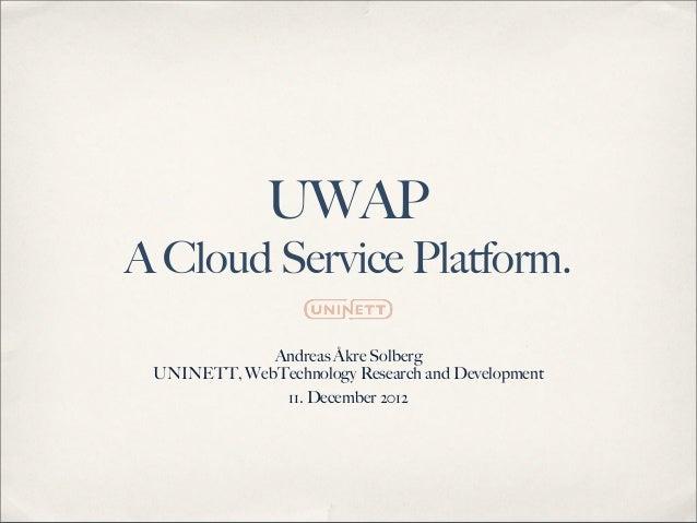UNINETT IoU - UWAP Prototype