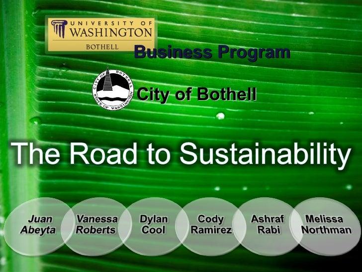 Uwb Sustainability Project