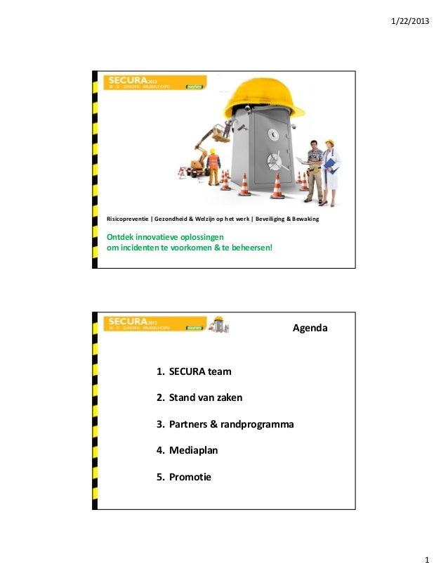 1/22/2013Risicopreventie Gezondheid&Welzijnophetwerk Beveiliging&BewakingOntdek innovatieveoplossingenominci...