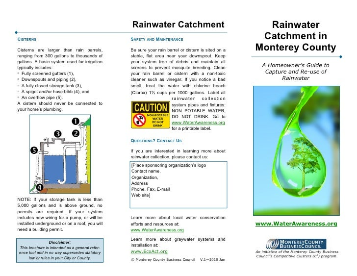 Rainwater Catchment                                   RainwaterCISTERNS                                        SAFETY AND ...