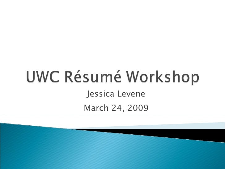 Uwc RéSumé Workshop