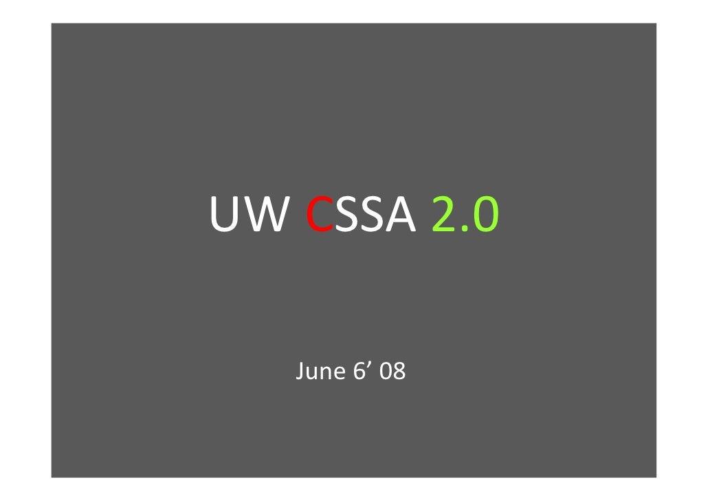 uwcssa Presentation