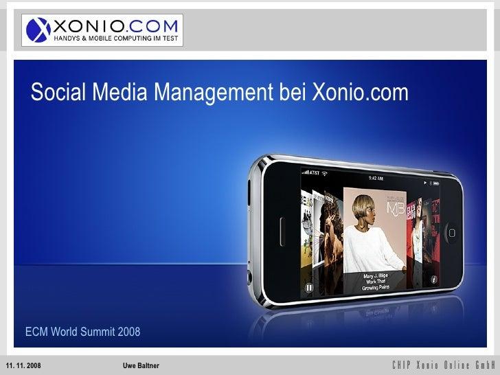 Social Media Management bei Xonio.com