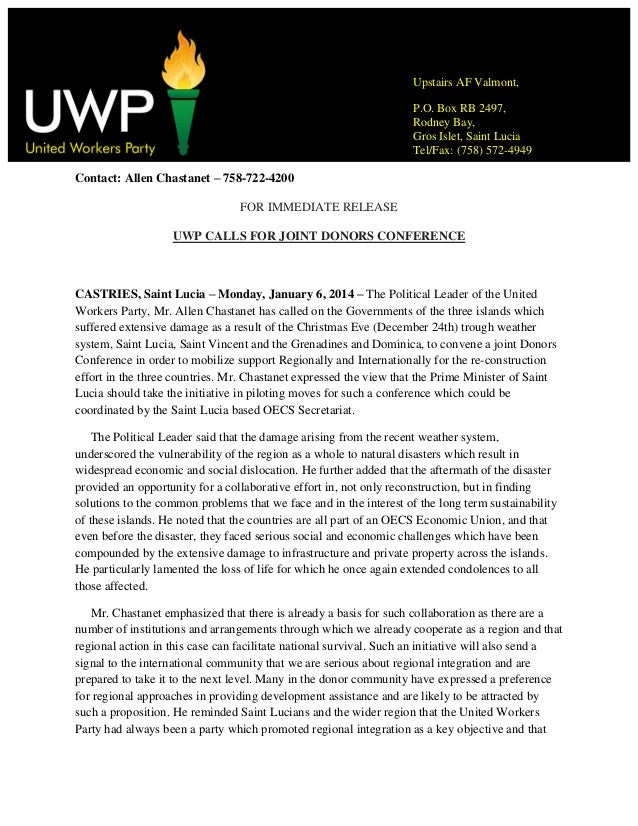 Uwp calls for joint donors conference