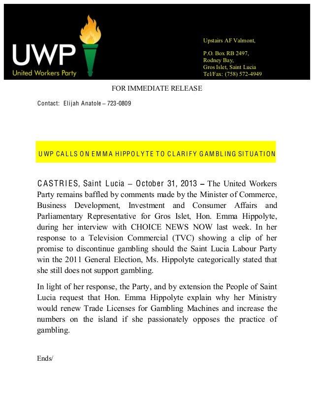Uwp Calls On Emma Hippolyte
