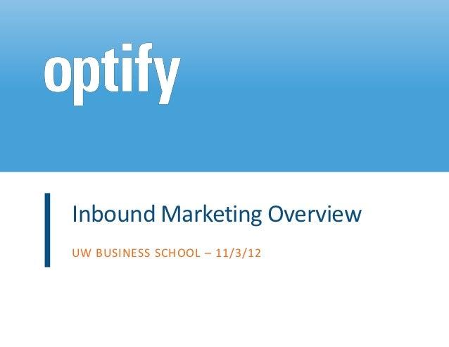 Inbound Marketing Overview Nov 2012