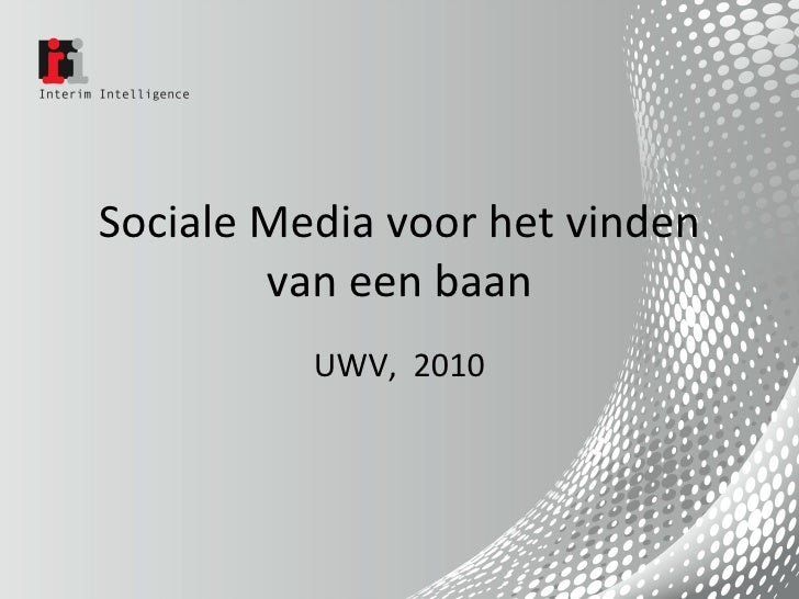 Sociale Media voor het vinden van een baan