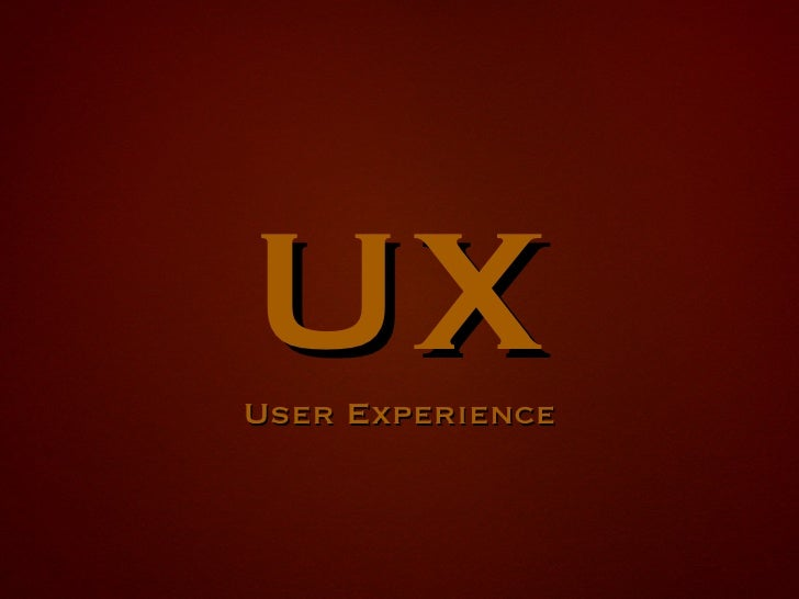 UX User Experience