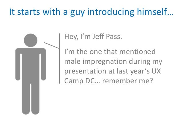 It starts with a guy introducing himself…             Hey, I'm Jeff Pass.             I'm the one that mentioned          ...